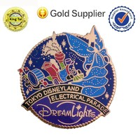 2015 new wholesale quality custom manufacturer colorful metal badge lapel pin