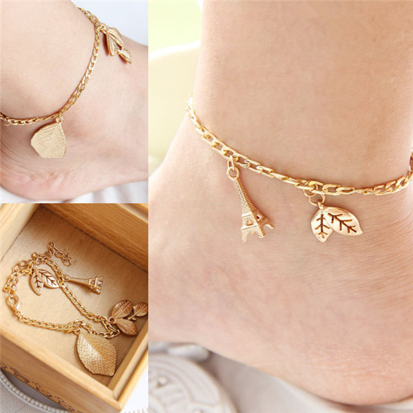 Mylove Gold Anklet Designs With Eiffel Tower Hot Selling