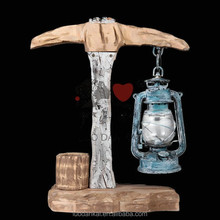 Office work hand carved wood table decorative retro table lamps for study room