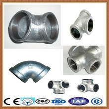 hot dipped galvanized fittings/galvanized steel pipe fittings dimensions