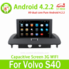 8'' Android 4.2 Volvo S40 Car DVD Radio GPS AUX RDS Bluetooth OBD Mirror Link steering wheel control
