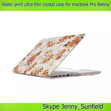 for macbook pro retina case Flora waterprint , 11 designs ultra thin crystal case for macbook pro retina 13.3 15.4