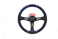 14inch high Quality MOMO Drifting Racing PVC Deep Dish Steering Wheel