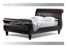 Venta al por mayor tamaño de las camas de trineo, el mejor precio de imitación de cuero camas trineo para el reino unido
