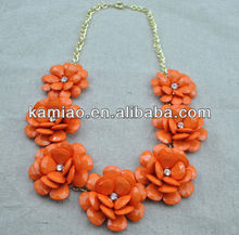 fanshion jewelry vintage hawaii hula flower necklace