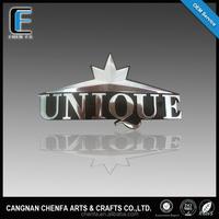 Unique 3m adhesive chrome car badges emblems