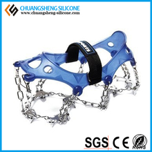 WINTER RUBBER SHOES COVER/ICE GRIPPER FOR CLIMBING OR WALKING ON SNOW AND ICE