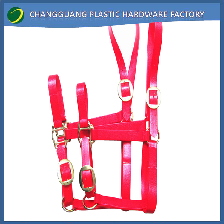 11red pvc horse halter