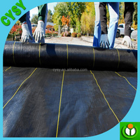 temporary used anti root mat recycled pp plastic weed mat,cheap ground cover fabric,black weed control cloth with green stripe
