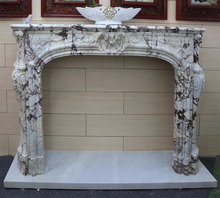 natural marble gas decorative french fireplace surround for tv stand