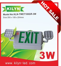 Factory direct sale UL listed Ni-Cd battery Twin head emergency lamp combo