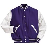 blue and white Varsity Jackets
