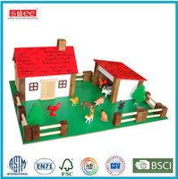 Handmade Wooden farm house toy