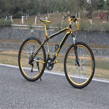 Mountain bike con freno a disco, bicicletta con freno a disco doppio, bicicletta tutti i tipi