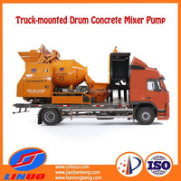 Linuo C5 concrete mixer self loading, portable concrete mixer, industrial concrete mixer pump