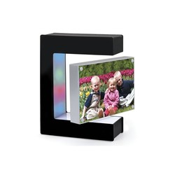 2015 acrylic material led lights magnetic floating photo frame