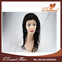 Brazilian Deep Wave Remy Human Hair lace front wig With PU