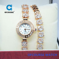 Japan original movt quartz girls hand chain watch with rhinestone