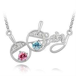 Austrian crystal jewelry necklace-Fashion sports(ocean blue)