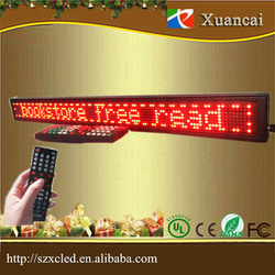 PH4 single line monochrome Red pixel 8 x128 scrolling information multi-languages display board led programmabel sign