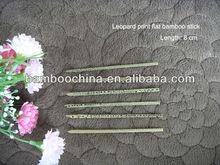 Leopard print flat bamboo stick