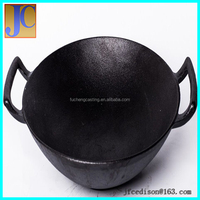 Cast iron double side grill pans suport
