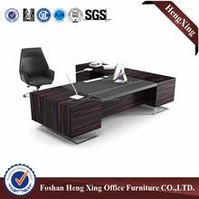 Standard office desk dimensions modern L shaped wooden office desk & executive desk HX-ND5067