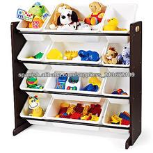 desigh moderno estantes de madera para niños