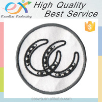 Trade Assurance professionally custom NOT 100%embroiderededge twill iron on embroidery patch for caps