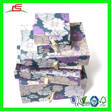 N511 Girly Paper Storage Boxes and Drawers For A Lovely Room Decor, Custom Girly Flower Patterned Paper Drawer Box