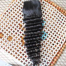Brazilian virgin hair silk base free part closure
