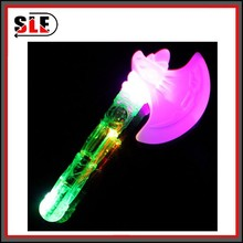 Hot Sale Plastic Cartoon Flash Light Up Axe Toy Promotion Spin Flash Toy