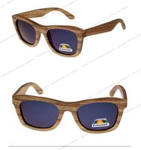 Eco-friendly Polarized Mirrored Lens spring Hinge Wood Sunglasses China OEM eyewear