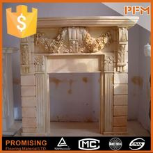 natural well polished beautiful decorative beautiful hand carved stone for fire place frame electric fire place