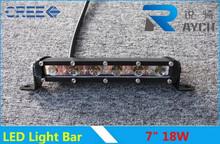 New product! Tuning lights 7inch 3w c ree single row led mini light bar 12v ip68 18W LED Light Bar 3W/LED Chip Mini led bar