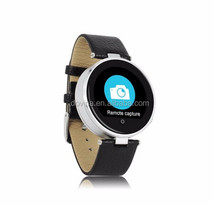 fashionable bluetooch wrist smart watch with stainless steel case and leather band, hot selling all over the world(S365)