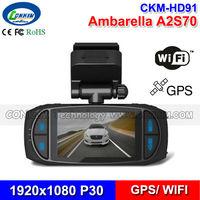 Car Camera WIFI CKM-HD91 Ambarella A2S70 140 Degree Wide Angle