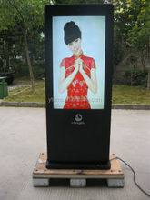 portrait or landscape touch digital advertising LCD monitor with 1920*1080 resolution