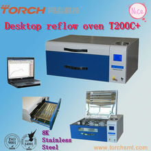 mini size high temperature hot air desktop smt reflow oven machine wiht temperature cure
