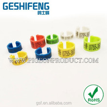 pigeon canary bird rings the top quality new and fashion all colors small plastic ring for pigeon