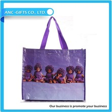 2014 HOT selling color printed recycled pp laminated shopping bag
