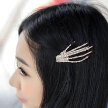 Wholesale devil skeleton hand claw hair clip hairpin decor metal hair clips