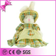 Attractive Cute Plush Rabbit Country Style Plush Rabbit With Skirt