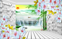 water resistant wallpaper 3d flowes chinese writing wallpaper for hotel