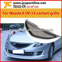 Auto de fibra de carbono parrilla delantera del coche de la parrilla de malla de la cubierta para mazda 6 ruiyi 2009-2013