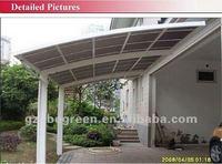 3.0m*5.5*2.9m car canopy with aluminum frame, single slope carport, car parking canopy