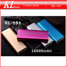 2015 Hot Selling High Quality 16000mAh Move Power Bank 2 USB Travel Charger