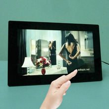 """Wall mount or desktop type Android 13.3"""" Touch screen advertising player"""
