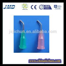 La dispensación de la jeringa y la aguja, la aguja de punta roma, la aguja de plástico con el ce, gmp