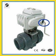 2 way electric pump ball valve dn50 PVC water control 4-20mA PLC